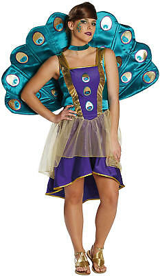 Pfau Vogel Karneval Fasching Kostüm 34-42