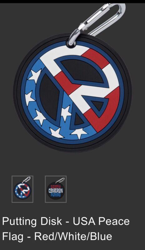 scotty cameron putting disk USA Peace Flag