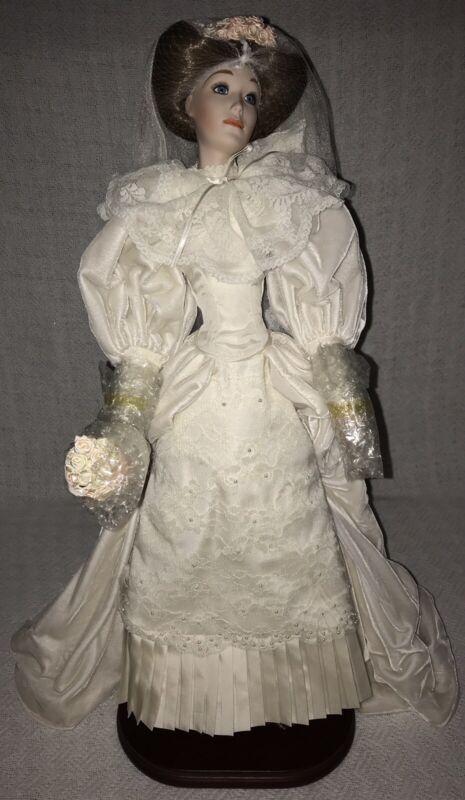 Vintage 1989 Lenox Victorian Bride Bridal Wedding Porcelain Doll 1st Issue New