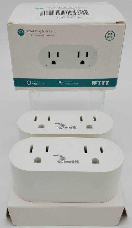 Smart Plug Outlet with Energy Monitoring (White)
