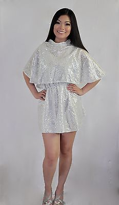 ADULT SILVER 1950's GREASE ANGEL BEAUTY SCHOOL DROP OUT DREAM SEQUENCE COSTUME](Grease Beauty School Dropout Costume)