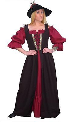RENAISSANCE FAIR MEDIEVAL PEASANT WENCH HALLOWEEN COSTUME IRISH OVER DRESS Fd10S
