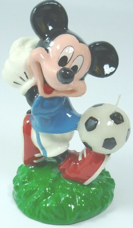 Incredible Mickey Mouse Footballer Disney Birthday Cake Candle Topper Figure Personalised Birthday Cards Rectzonderlifede