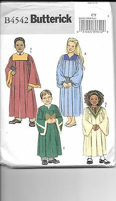 Butterick  Unisex Child  Choir Robes  & Collar Pattern     4542  Size =   (7-12) - Children's Choir Robes