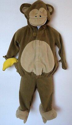 Old Navy Monkey 6 12 Month Boy Girl Halloween Costume Fleece 2 Piece Brown Warm](2 Month Old Halloween Costumes)