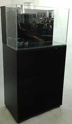"SC Aquariums 24 Gallon PNP System 24x15x15"" 6mm Saltwater Ready with overflow"