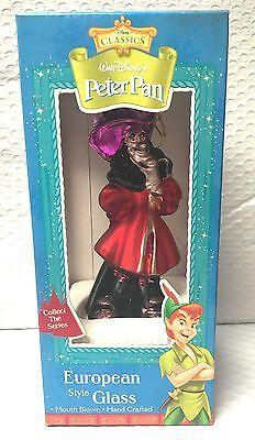 Walt Disney Peter Pan's Captian Hook European Style Glass Christmas Ornament HTF - Captian Hook