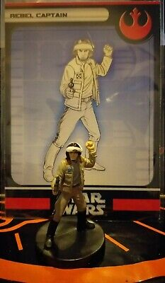 Star Wars Miniatures Rebel Captain S 2/6+ Card Free P&P