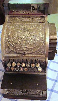 antike kleine Registrierkasse Kasse NATIONAL ca. 1910 Modell 932147-317