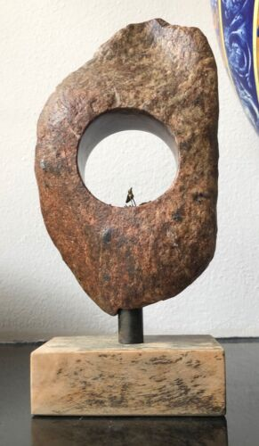Vintage stone sculpture bob sinclair little metal bird  art stone