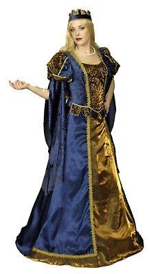 exkl. mittelalter Damen Kostüm KÖNIGIN Burgfräulein Kleid Larp inkl. Reifrock ()