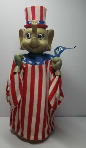 RARE 1984 Republican National Convention Boxing Elephant Puppet GOP Dallas Texas