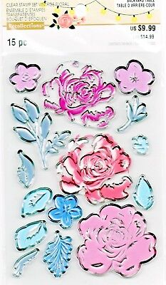 Rose Flower Layering Clear Stamp Set by Recollections 535918 NEW!