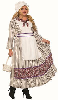 Western Pioneer Woman Plus Size Adult Costume](Halloween Pioneer Woman)