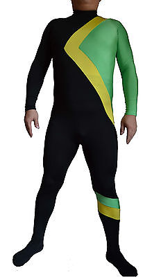 Jamaican Bobsled Fancy Dress Party Halloween Costume Zentai Olympic Movie Outfit