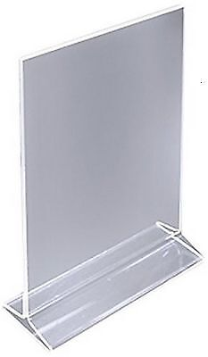 4 X 5 Acrylic Sign Holder For Tabletops Top Insert T-style - Clear 19015