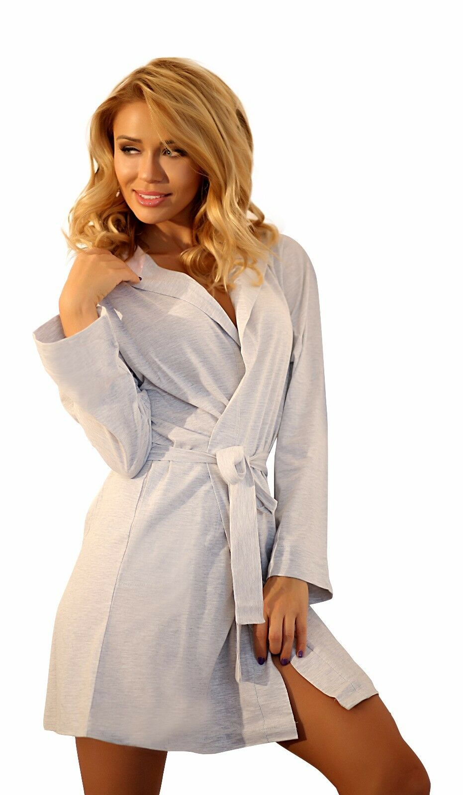 Girls Cotton Dressing Gown Housecoat Hooded Robe Bathrobe for Women ...