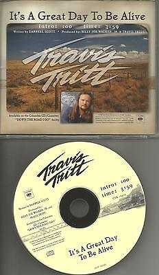 Travis Tritt  It S A Great Day To Be Alive 2000 Usa Promo Radio Cd Single Mint