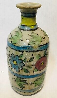Antique vintage colorful little vase probably Indian provenance 💕 patinee 16 cm
