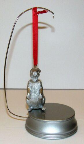 Christmas Ornament Rabbit Silver Metal Bunny
