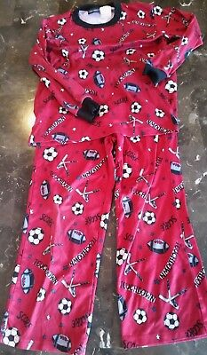 6efa33289 Boys Kids CHEROKEE Pajamas Value SMALL (S) Sports Soccer Football Hockey  PJ s Red