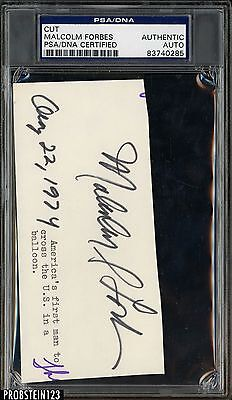 Malcolm Forbes Signed Cut AUTO Autograph PSA/DNA Certified Authentic