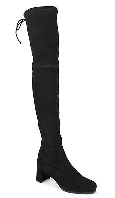 Stuart Weitzman Women's Hinterland Black Suede Over-The-Knee Boots