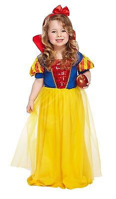 Toddler Snow Girl Childs Fancy Dress Up Party Costume Age 3 World Book Day - Toddler Bible Costumes