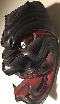 Danced, Antique, 19th Century, Japanese Wooden - Menburyu Mask - Furyu Parade