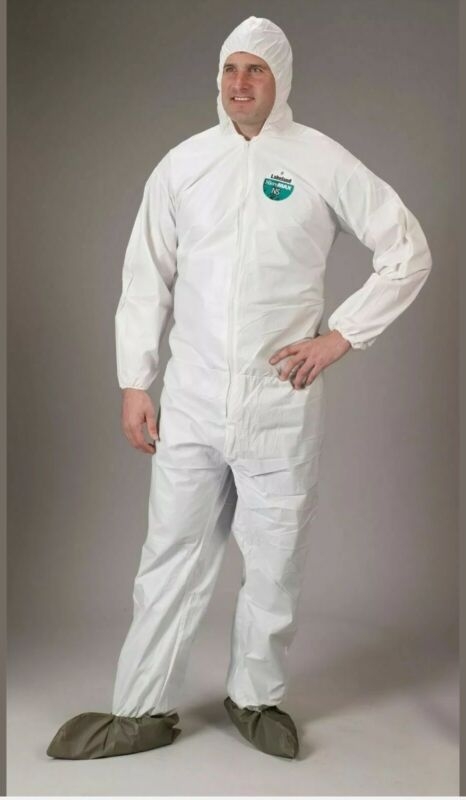 LAKELAND CTL414 MICROMAX COVERALLS SUIT HOOD & BOOTS SIZE 3XL