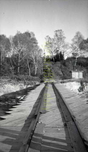 MEC Maine Central Rail Tracks - c1940s - Vintage Railroad Negative
