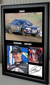 Colin McRae Rally Legend Framed Canvas Print Signed