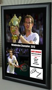 Andy Murray Wimbledon Champion Framed Canvas Tribute Print Signed