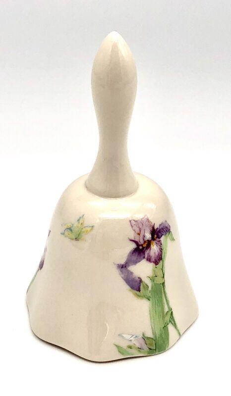 "Gorham Giverny ""Iris"" Ceramic Bell 🔔"