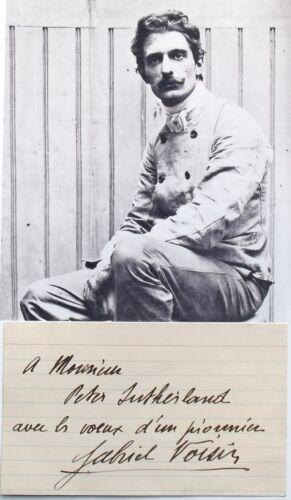 Gabriel Voisin French Aviation Pioneer & Aircraft Designer Autograph