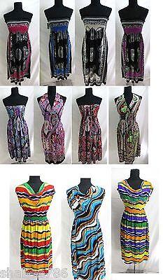 D6T WHOLESALE LOT CLOTHING 200 WOMEN MIXED DRESSES SUMMER TOPS CLUBWEAR S M L XL