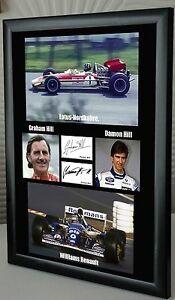 Graham & Damon Hill Framed Canvas Tribute Print Signed