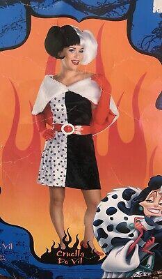 Disney Cruella Devil Adult Costume with wig (E)