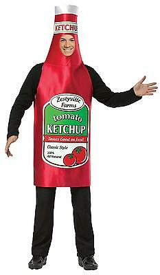 Adult Ketchup Costume (ADULT ZESTYVILLE KETCHUP CATSUP CONDIMENTS MASCOT COSTUME DRESS)