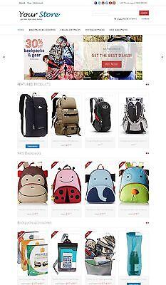 Backpacks Store Website - Amazon Affiliate Store On Autopilot