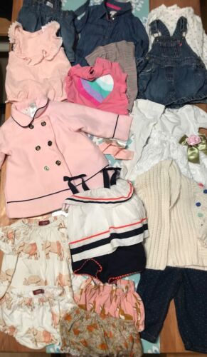 Baby Girl 6 to 12 Months Mixed Season Clothing Lot Top Bottom Dress Sweater Coat