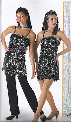 Gatsby Charleston Flapper Jazz Tap Dance Costume Halloween Child Medium & Large - Halloween Jazz Dance