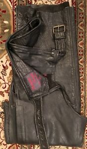 Men's Leather Motorcycle  Chaps