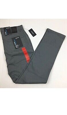 - DKNY Bedford Men's Slim Straight Casual Brushed Twill Chino Pants 36x34 Gray