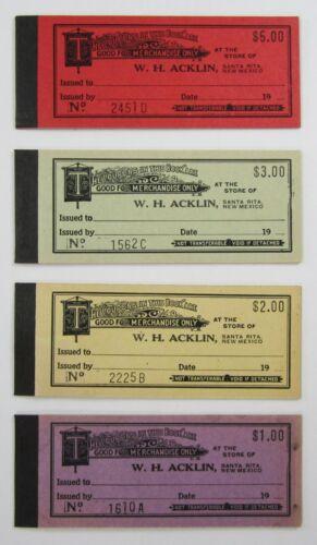 Vintage Acklin Copper Mine Company Store Script Coupon Chit Book Santa Rita NM