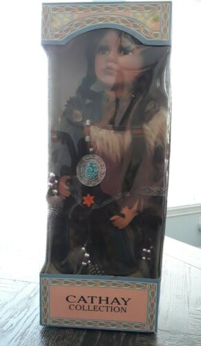 """Cathay Collection """"Native American Porcelain Doll"""", 14"""""""