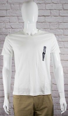 NWT Mens GAP V-Neck Short Sleeve Everyday T-Shirt White 100% Cotton - 801956BG