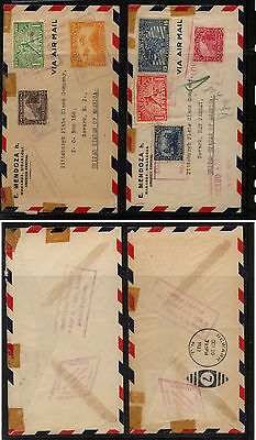 Nicaragua   2  covers  to  US  airmail               MS0224