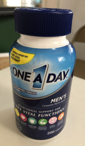 ONE A DAY MEN'S 200 TABS Complete MULTIVITAMINS For 6 KEY VITAL FUNCTIONS 05/22