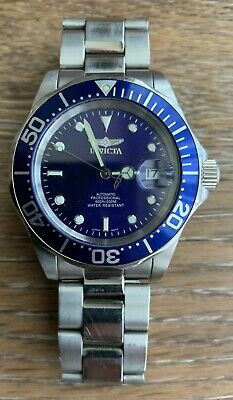 Invicta Model 9094A Mens Automatic Watch Miyota JAPAN Movement 40mm Blue Date